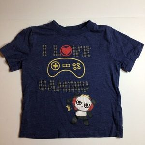 💚5/$20💚I Love Gaming Graphic Tee Size 4